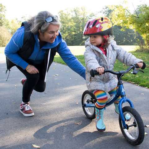 Balance Bike Scooting